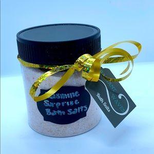 8oz jar of Jasmine surprise scented bath salts